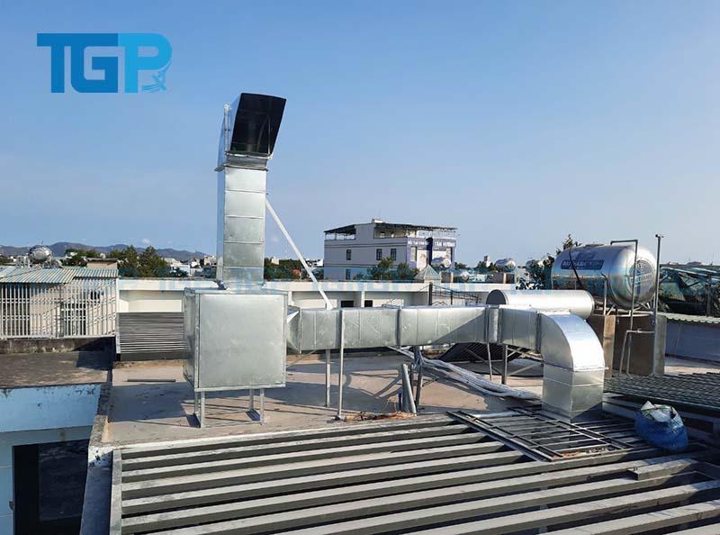 Co đường ống dùng để bẻ hướng đi của đường ống hút khói
