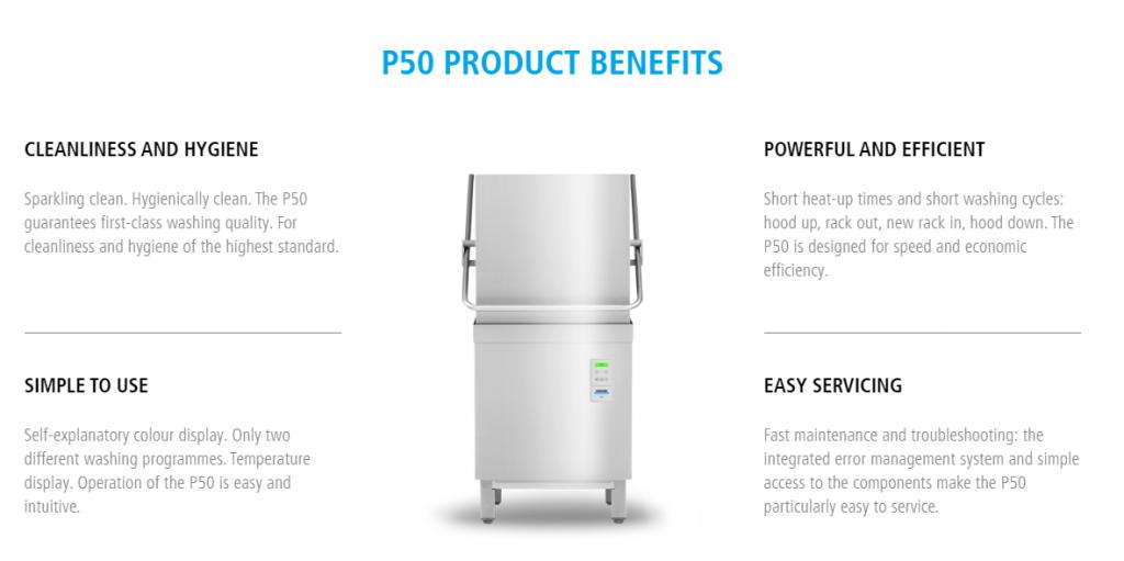 Máy rửa chén công nghiệp PT500 hiện đại