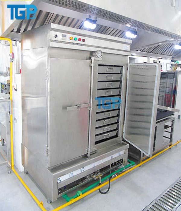 Tủ hấp cơm được làm bằng SUS 304