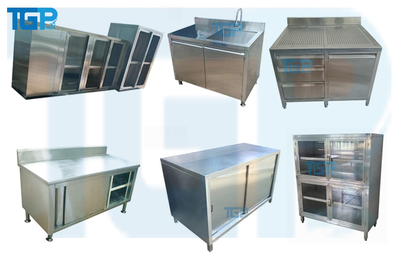 Các loại tủ inox thông dụng trong khu bếp công nghiệp