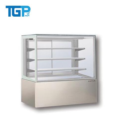 Tủ trưng bày bánh kính phẳng viền trắng 1800mm (3 ngăn)