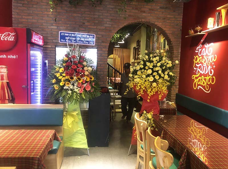 Thi thông bếp công nghiệp nhà hàng Pasta Paradise