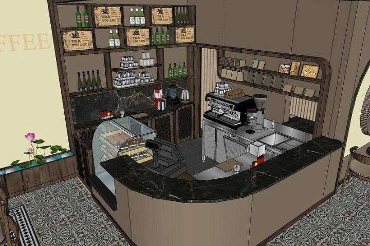 Chú ý đến vệ sinh cho quầy bar đẹp cho quán cafe