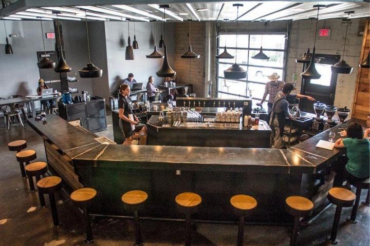 Mẫuquầy bar quán cafe nhỏhiện đại