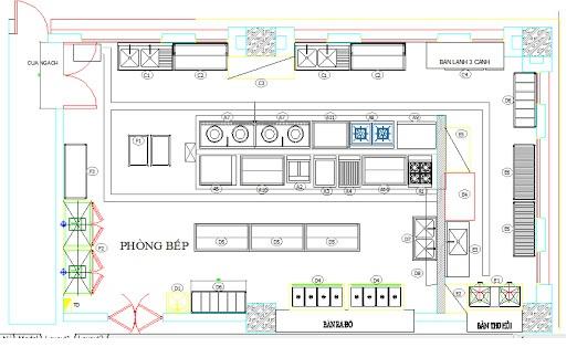 Bản vẽ thiết kế bếp nhà hàng