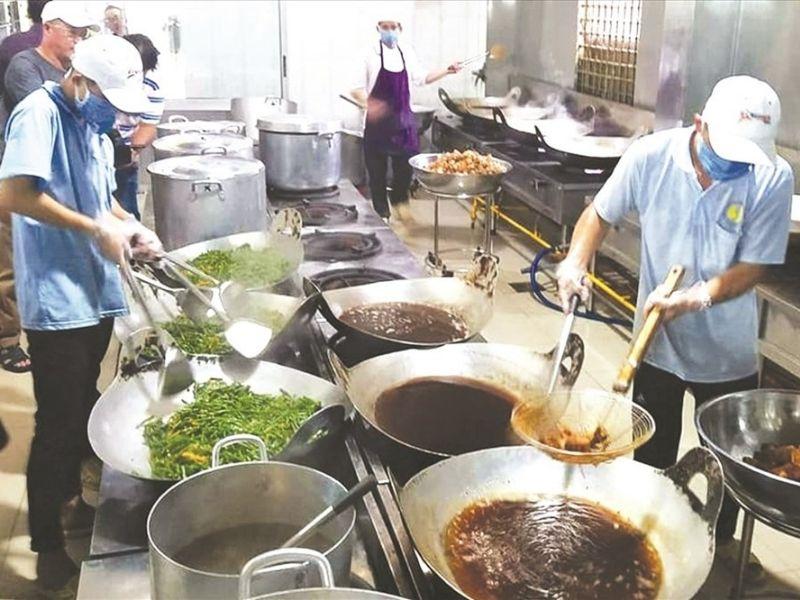 Thiết kế bếp ăn tập thể khu vực riêng biệt