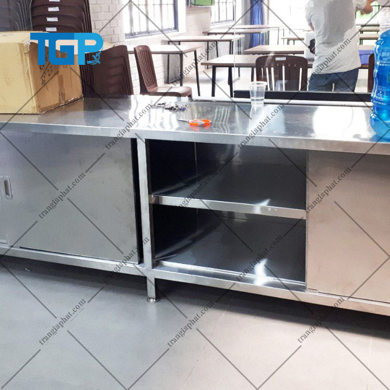 Tủ bếp inox công nghiệp mới nhất