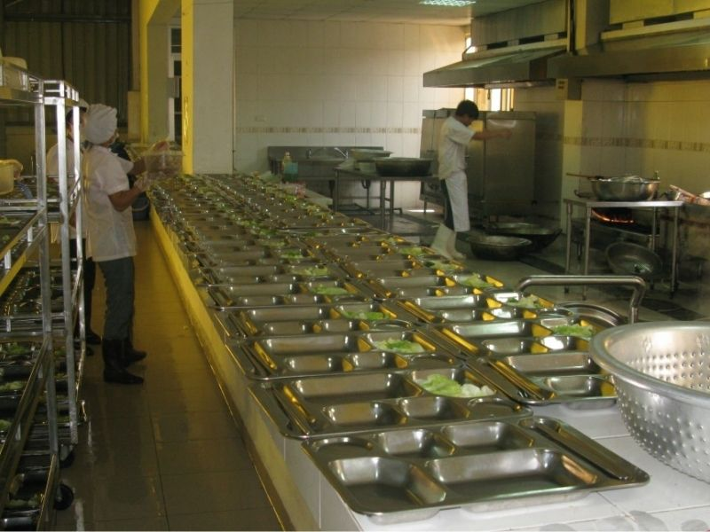 Cấu tạo khu bếp công nghiệp nhà hàng