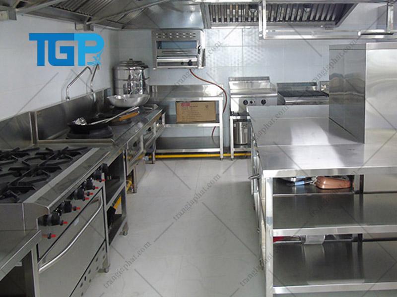 Mô hình bếp công nghiệp thiết kế dạng phân khu