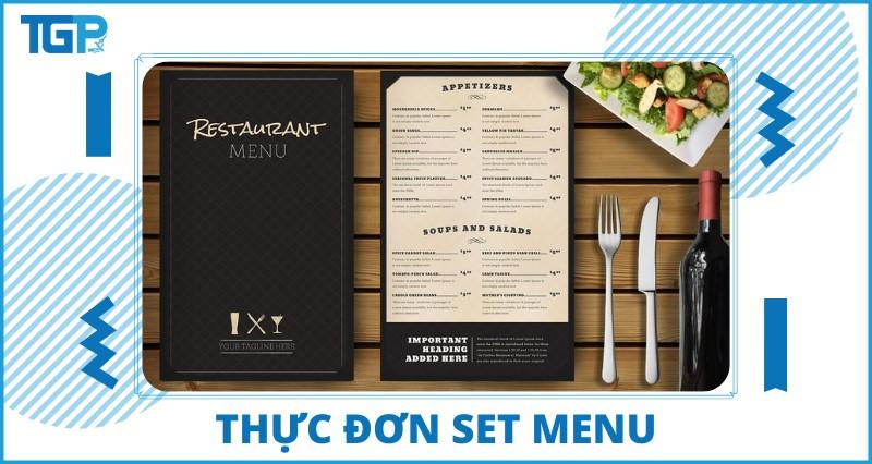 Thực đơn set menu và những thông tin cần biết