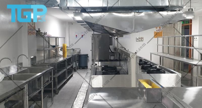 Tiêu chuẩn thiết kế bếp ăn công nghiệp
