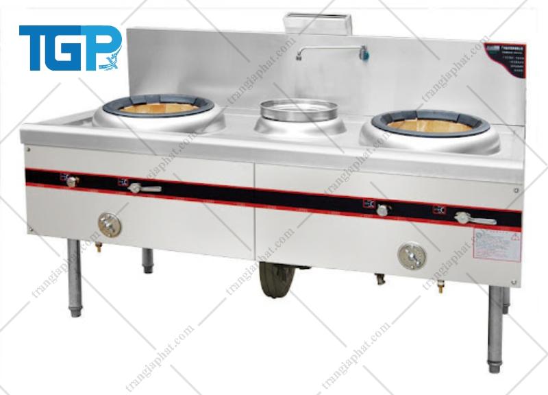 Bếp Á 2 họng có 1 vòi nước và 1 quạt thổi