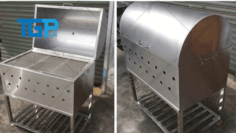 Lò nướng thịt công nghiệp bằng than
