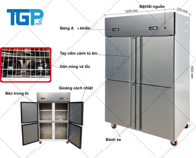 Cấu tạo tủ đông lạnh công nghiệp