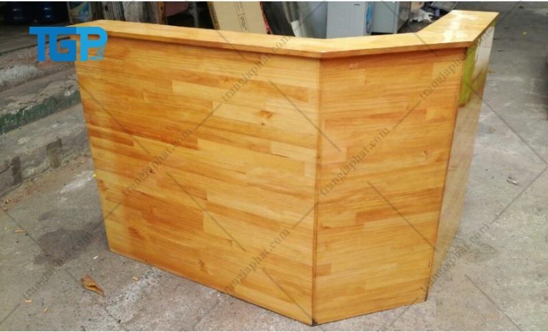 Mẫu thiết kế quầy pha chế làm từ gỗ