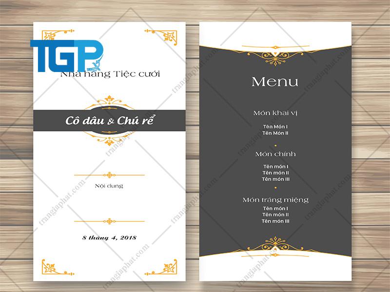 Set menu tiệc cưới là gì