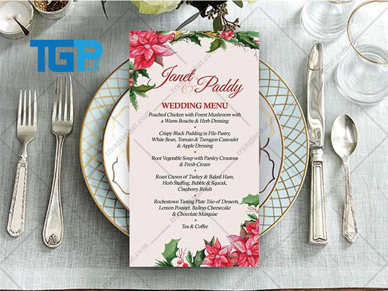 Menu tiệc cưới theo loại hình ẩm thực